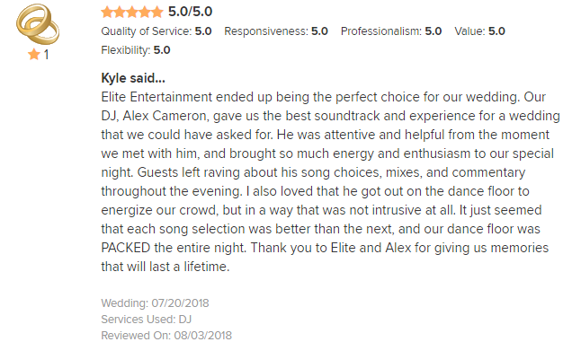 EliteEntertainment_WeddingWireReview_NJWedding_AlexCameron 2018 7-20-18
