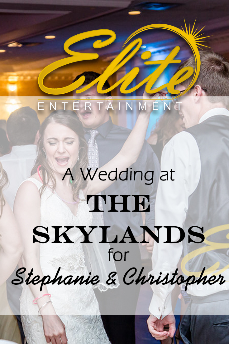 pin - Elite Entertainment - Wedding at The Skylands for Stephanie and Christopher