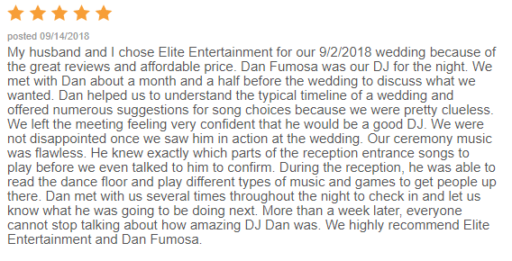 EliteEntertainment_WeddingWireReview_NJWedding_DanFumosa 2018 9-02-18