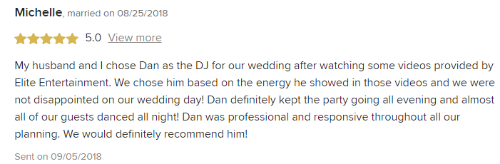 EliteEntertainment_WeddingWireReview_NJWedding_DanFumosa 2018 8-25-18