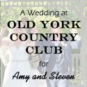 Old York Country Club Wedding for Amy and Steven
