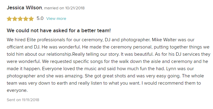 EliteEntertainment_WeddingWireReview_NJWedding_MikeWalter 2018 10-21-18