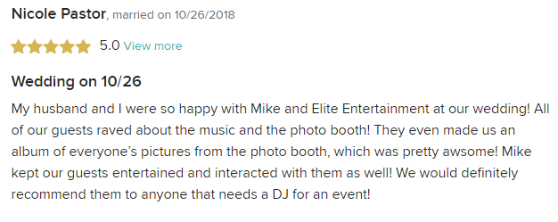 EliteEntertainment_WeddingWireReview_NJWedding_MikeWalter 2018 10-26-18