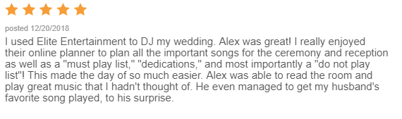 EliteEntertainment_WeddingWireReview_NJWedding_AlexCameron 2018 12-20-18