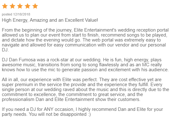 EliteEntertainment_WeddingWireReview_NJWedding_DanFumosa 2018 12-18-18