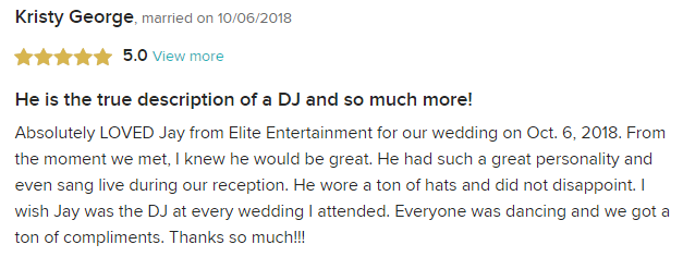 EliteEntertainment_WeddingWireReview_NJWedding_JayThomson 2018 10-6-18