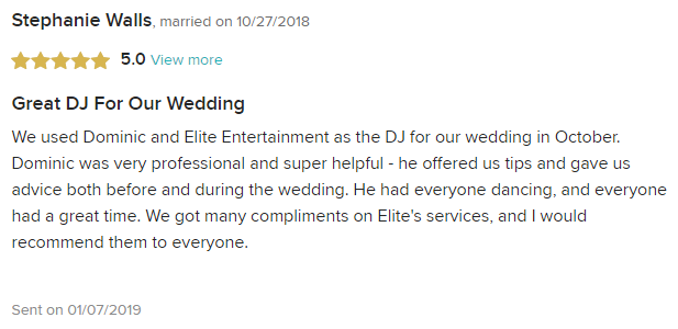 EliteEntertainment_WeddingWireReview_NJWedding_DominicSestito 2018 10-27-18