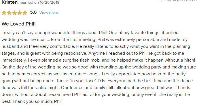 EliteEntertainment_WeddingWireReview_NJWedding_PhilWalsh 201910262018