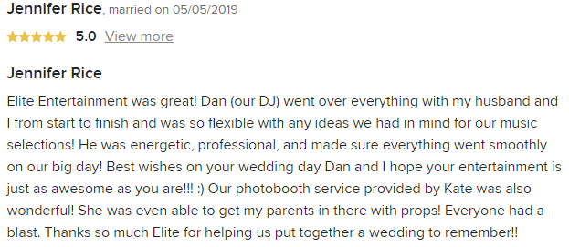 EliteEntertainment_WeddingWireReview_NJWedding_DanFumosa 2019 05052019