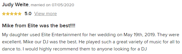 EliteEntertainment_WeddingWireReview_NJWedding_MikeWalter 2019 05192019