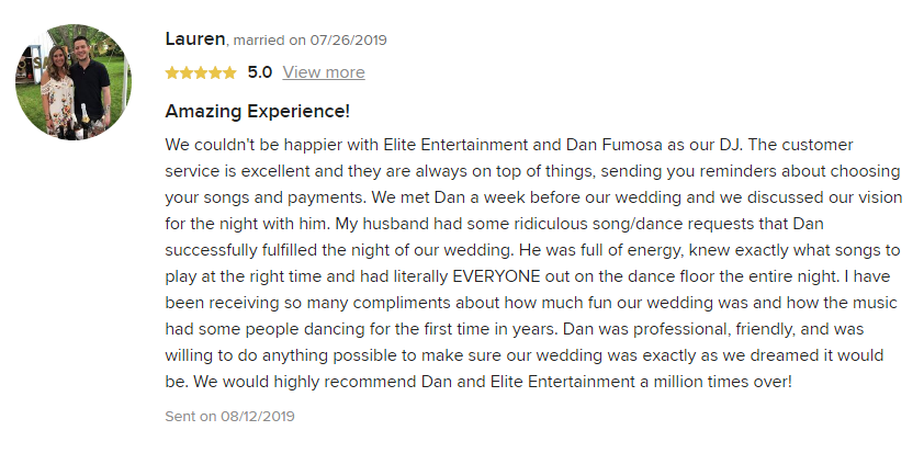EliteEntertainment_WeddingWireReview_NJWedding_DanFumosa 2019 07-26-2019