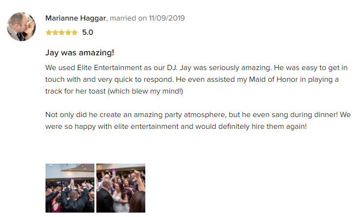 EliteEntertainment_WeddingWireReview_NJWedding_JayThomson 2019 11-9-2019