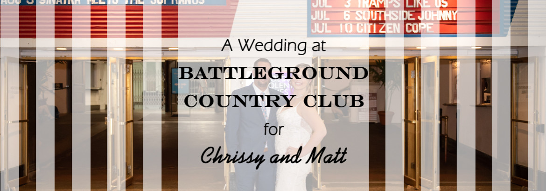 Battleground Country Club Wedding for Chrissy and Matt