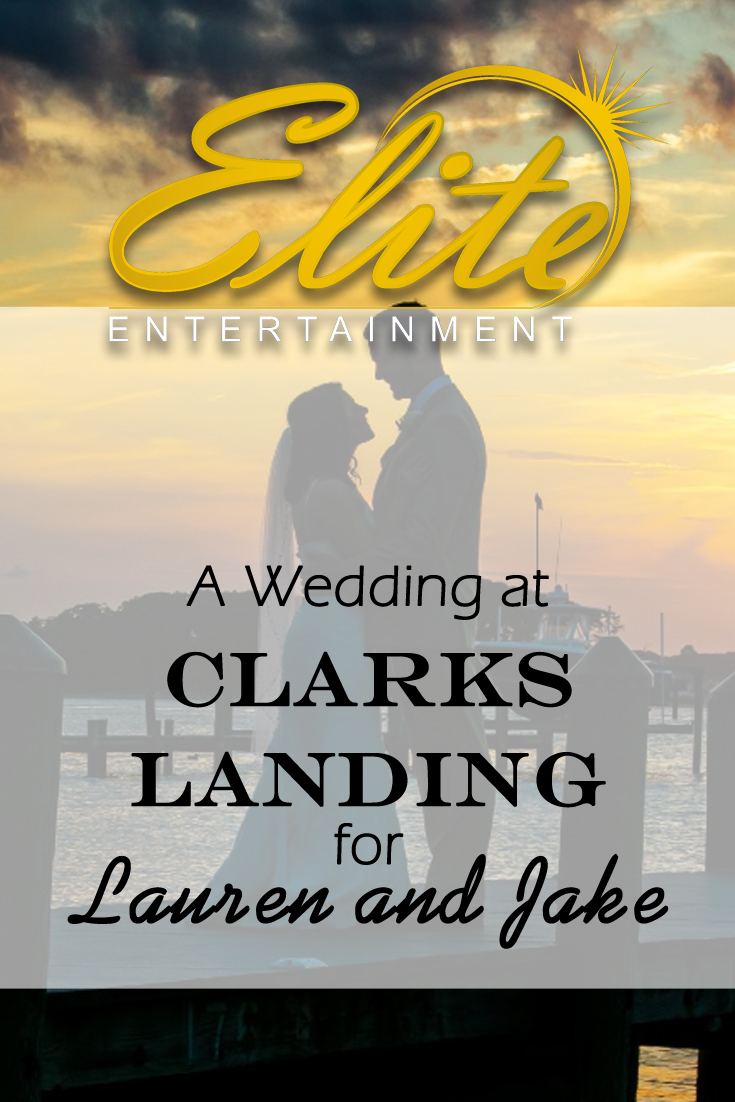 pin - Elite Entertainment - Wedding at Clarks for Lauren and Jake